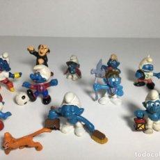 Figuras de Goma y PVC: LOTE FIGURAS PITUFOS SMURFS SIN MARCA NO TOXICO ORIGINALES AÑOS 80 Nº2. Lote 257712485