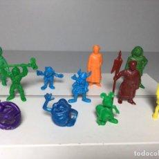 Figuras de Goma y PVC: DUNKIN,PHOSKITOS,LOTE FIGURAS MORTADELO,CAZAFANTASMAS,RUY CID. Lote 257715690