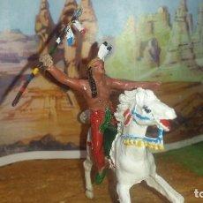Figuras de Borracha e PVC: INDIO DE JECSAN Y CABALLO. Lote 258170095