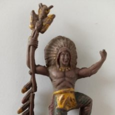 Figuras de Goma y PVC: FIGURA INDIO GOMA AÑOS 50 CAPELL. Lote 258568795
