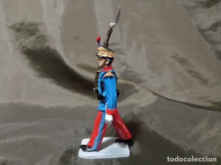 Figuras de Goma y PVC: Ref: 701 Desfile Infantería del Rey fusilero de goma Reamsa Gomarsa Soldis - Foto 2 - 259259040