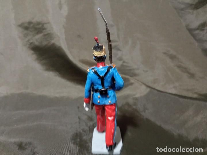 Figuras de Goma y PVC: Ref: 701 Desfile Infantería del Rey fusilero de goma Reamsa Gomarsa Soldis - Foto 3 - 259259040