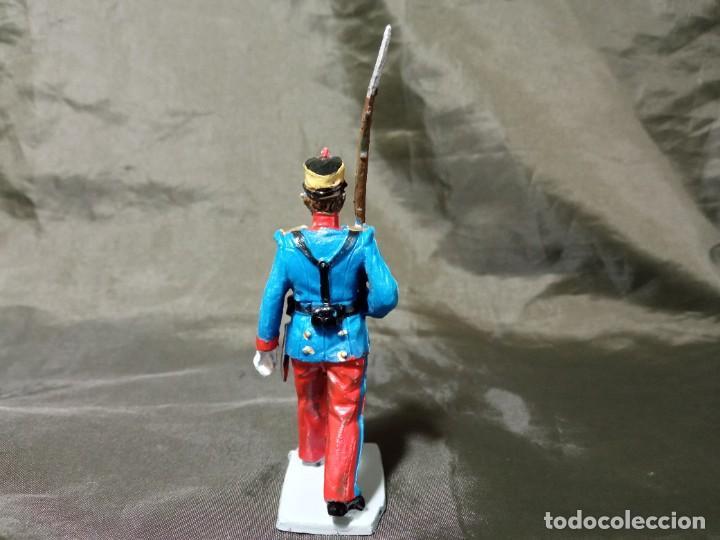 Figuras de Goma y PVC: Ref: 701 Desfile Infantería del Rey fusilero de goma Reamsa Gomarsa Soldis - Foto 3 - 259259985