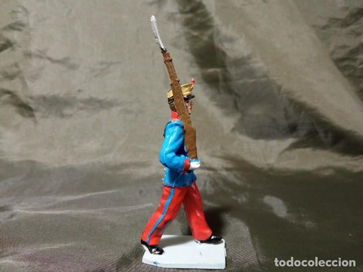 Figuras de Goma y PVC: Ref: 701 Desfile Infantería del Rey fusilero de goma Reamsa Gomarsa Soldis - Foto 4 - 259259985
