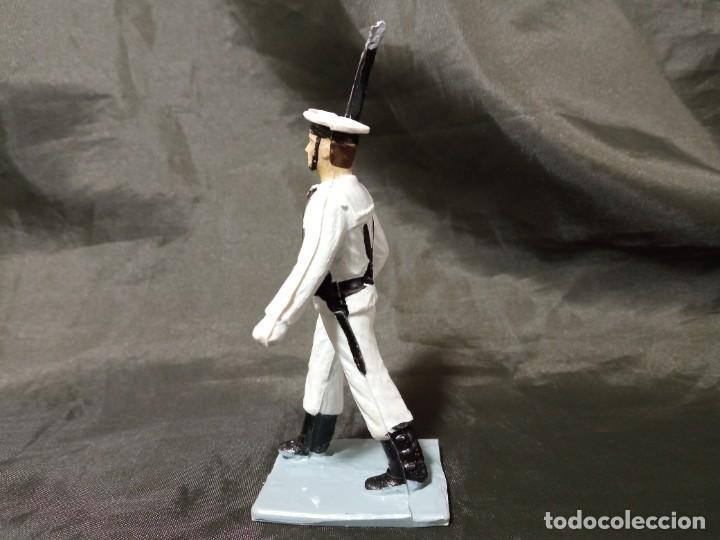 Figuras de Goma y PVC: Ref: 712 Desfile Infantería de Marina con fusil Reamsa Gomarsa Soldis - Foto 2 - 259262320
