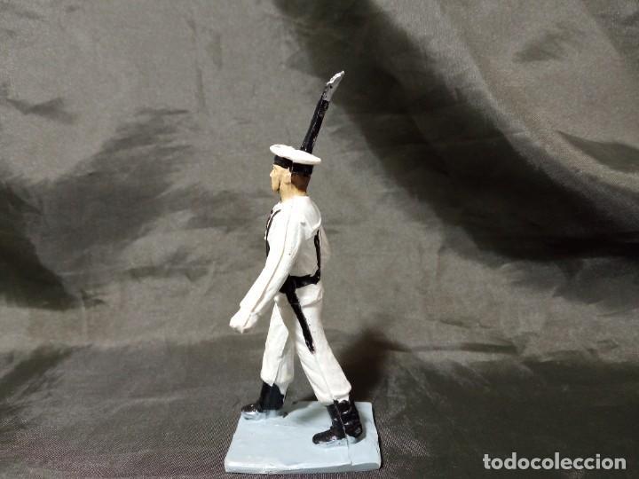 Figuras de Goma y PVC: Ref: 712 Desfile Infantería de Marina con fusil Reamsa Gomarsa Soldis - Foto 2 - 259262650