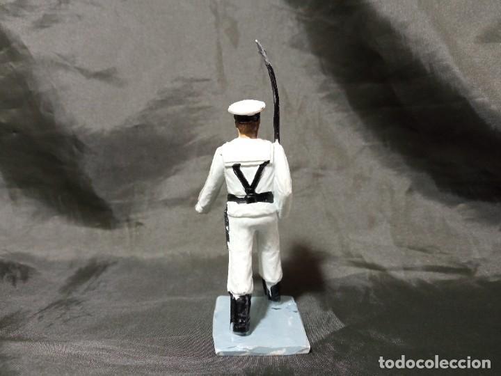 Figuras de Goma y PVC: Ref: 712 Desfile Infantería de Marina con fusil Reamsa Gomarsa Soldis - Foto 3 - 259262650
