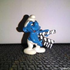 Figuras de Goma y PVC: FIGURA PVC PITUFO CINE SCHLEICH PEYO SMURFS CINEASTA DIRECTOR. Lote 259280700