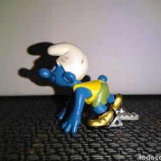 Figuras de Goma y PVC: FIGURA PVC PITUFO ATLETA SCHLEICH PEYO SMURFS CORREDOR VELOCISTA. Lote 259280885