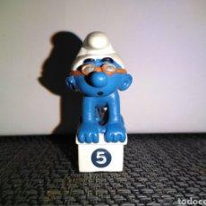 Figuras de Goma y PVC: FIGURA PVC PITUFO NADADOR SCHLEICH PEYO SMURFS NATACION PODIUM. Lote 259281305