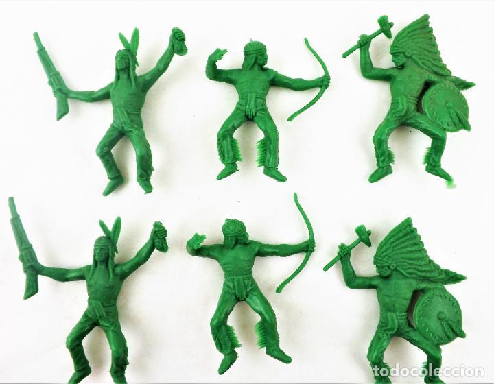 Figuras de Goma y PVC: Comansi Indios . Piezas de los 70. Conjunto de 9 unidades - Foto 3 - 259328150