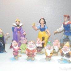 Figurines en Caoutchouc et PVC: COLECCIÓN PERSONAJES BLANCANIEVES Y LOS SIETE ENANITOS CON BRUJA Y PRINCIPE BULLYLAND - DISNEY. Lote 260062705