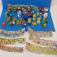 Figuras Kinder: LOTE 32 MUÑECOS KINDER SORPRESA + 7 FOLLETOS / HUEVOS KINDER /. Lote 260281445