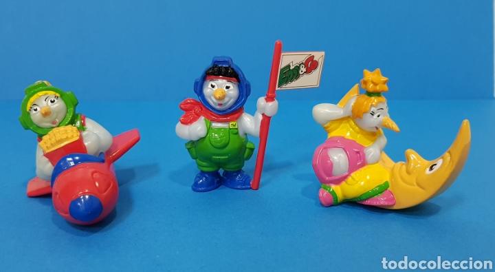EDDI & CO - KINDER - LOTE 3 MIÑECOS AÑO 1998 (Juguetes - Figuras de Gomas y Pvc - Kinder)