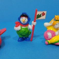 Figuras Kinder: EDDI & CO - KINDER - LOTE 3 MIÑECOS AÑO 1998. Lote 260281885