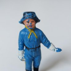 Figuras de Goma y PVC: JECSAN - RINTINTIN - SERIE - RIN TIN TIN - CABO RUSTY - YANKEE GUERRA CIVIL AMERICANA - AÑOS 60. Lote 260456755