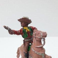 Figuras de Goma y PVC: VAQUERO - COWBOY A CABALLO . REALIZADO POR LAFREDO . SERIE PEQUEÑA 4 CM . AÑOS 50 EN GOMA. Lote 260510610