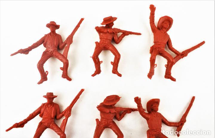 Figuras de Goma y PVC: Comansi Vaqueros . Piezas de los 70. Conjunto de 9 unidades - Foto 2 - 260512765