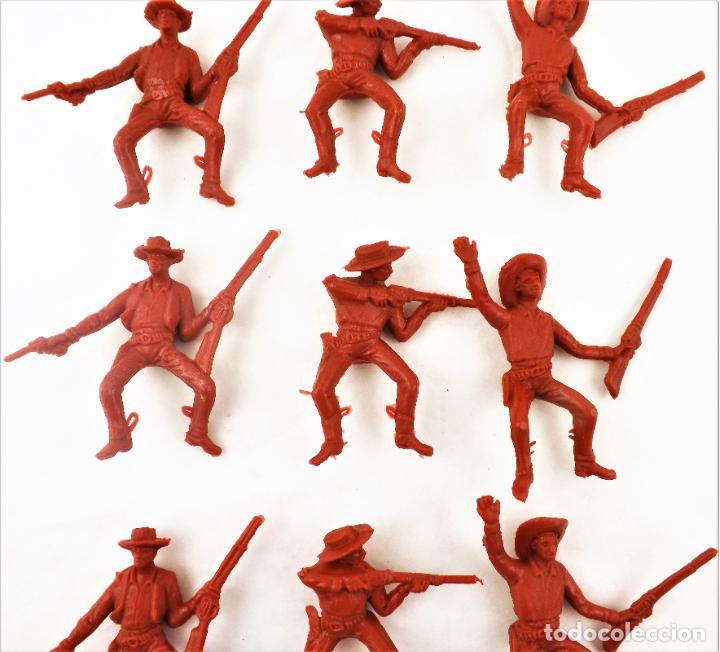 Figuras de Goma y PVC: Comansi Vaqueros . Piezas de los 70. Conjunto de 9 unidades - Foto 3 - 260512765