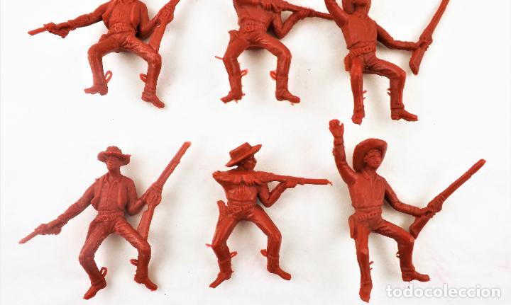 Figuras de Goma y PVC: Comansi Vaqueros . Piezas de los 70. Conjunto de 9 unidades - Foto 4 - 260512765