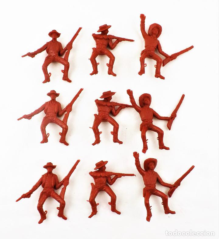 COMANSI VAQUEROS . PIEZAS DE LOS 70. CONJUNTO DE 9 UNIDADES (Juguetes - Figuras de Goma y Pvc - Comansi y Novolinea)