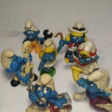Figuras de Goma y PVC: LOTE DE PITUFOS ANTIGUO. Lote 260680375