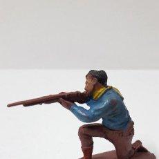 Figuras de Goma y PVC: VAQUERO - COWBOY EN POSICION DE DISPARO . REALIZADO POR PECH . SERIE PEQUEÑA . AÑOS 50 EN GOMA. Lote 260744070