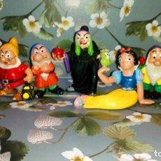 Figuras de Goma y PVC: LOTE DE 7 FIGURAS PVC DE BLANCANIEVES Y LOS SIETE ENANITOS DE DISNEY - COMICS SPAIN, AÑOS 80S. Lote 260773895