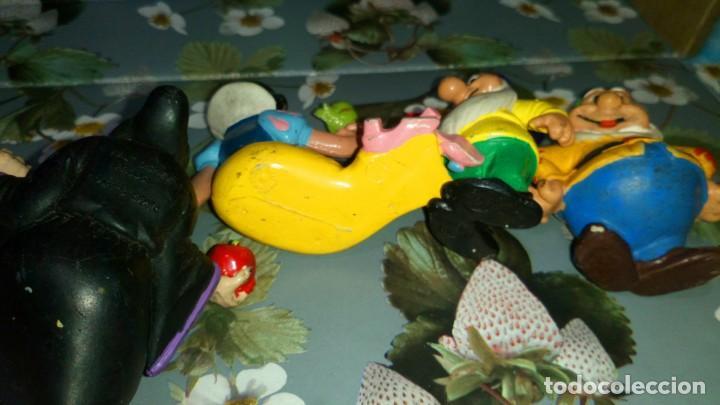 Figuras de Goma y PVC: LOTE DE 7 FIGURAS PVC DE BLANCANIEVES Y LOS SIETE ENANITOS DE DISNEY - COMICS SPAIN, AÑOS 80s - Foto 6 - 260773895