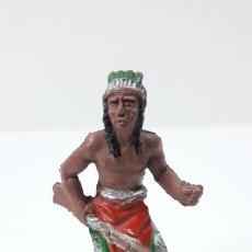 Figuras de Goma y PVC: GUERRERO INDIO . REALIZADO POR LAFREDO . SERIE PEQUEÑA ALTURA 4,5 CM . ORIGINAL AÑOS 50 EN GOMA. Lote 260829480