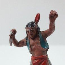 Figuras de Goma y PVC: GUERRERO INDIO . REALIZADO POR LAFREDO . SERIE PEQUEÑA ALTURA 4,5 CM . ORIGINAL AÑOS 50 EN GOMA. Lote 260829895