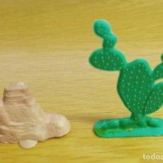 Figuras de Goma y PVC: JECSAN AMBIENTACIÓN PARA OESTE AMERICANO. ROCA Y CACTUS.. Lote 261139540