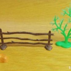 Figuras de Goma y PVC: JECSAN AMBIENTACIÓN PARA OESTE AMERICANO. ROCA, MATORRAL Y CERCA DE MADERA.. Lote 261139660