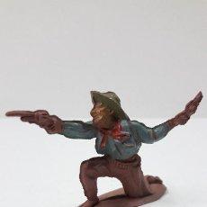 Figuras de Goma y PVC: VAQUERO - COWBOY . REALIZADO POR PECH . SERIE PEQUEÑA . ORIGINAL AÑOS 50 EN GOMA. Lote 261172645