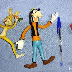 Figuras de Goma y PVC: 3 FIGURAS DE GOMA CON ALAMBRE INTERIOR FLEXIBLE CONEJO OLIVIA DE POPEYE Y GOOFY. Lote 261250315