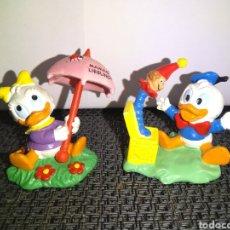 Figuras de Goma y PVC: FIGURAS PVC BABY DONALD Y DAISY DE BULLY 1987 EN MUY BUEN ESTADO. Lote 261264210