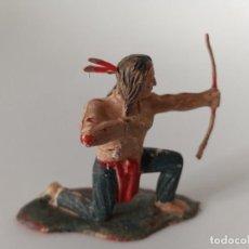 Figuras de Goma y PVC: FIGURA INDIO LITTLE BIG HORN REAMSA. Lote 261284650