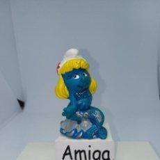 Figuras de Goma y PVC: PITUFINA SIRENA CON COLA AZUL- PEYO- SCHLEICH-. Lote 277514878