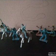 Figuras de Goma y PVC: LOTE MINI COMANSI FEDERALES SEPTIMO DE CABALLERIA INDIOS. Lote 261326825