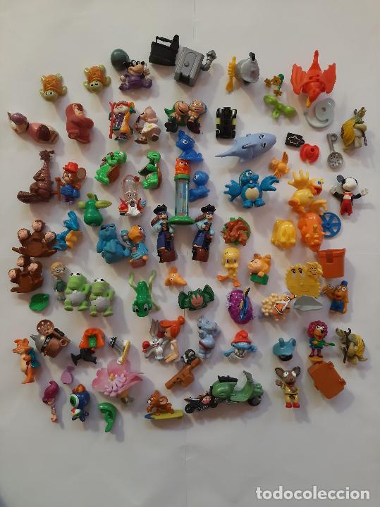 KINDER, FERRERO, MONCHERIE, LOTE 60 FIGURAS DE VARIAS SERIES (Juguetes - Figuras de Gomas y Pvc - Kinder)