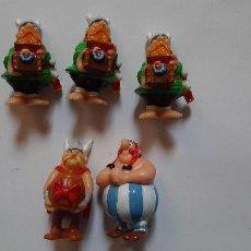 Figuras Kinder: KINDER, FERRERO, MONCHERIE, LOTE 5 FIGURAS ASTERIX Y OBELIX. Lote 261351505
