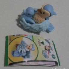 Figuras Kinder: NATOONS VV PAJARO CRIA BPZ PAPEL MUÑECO ANIMAL SALVAJE MINIATURA COMPLETO CORACIAS. Lote 261363905