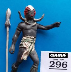 Figuras de Goma y PVC: GAMA - LOTE 296 FIGURA ORIGINAL GUERRERO AFRICANO - COMPATIBLE REAMSA JECSAN COMANSI PECH. Lote 261576470