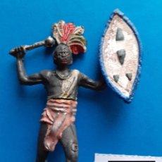 Figuras de Borracha e PVC: GAMA - LOTE 298 FIGURA ORIGINAL GUERRERO AFRICANO - COMPATIBLE REAMSA JECSAN COMANSI PECH. Lote 261576805