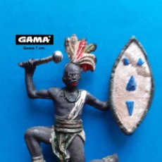 Figuras de Goma y PVC: GAMA - LOTE 299 FIGURA ORIGINAL GUERRERO AFRICANO - COMPATIBLE REAMSA JECSAN COMANSI PECH. Lote 261578555