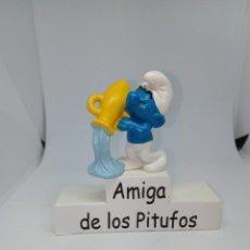 Figuras de Goma y PVC: PITUFO ACUARIO DEL ZODIOACO - PEYO - SCHLEICH. Lote 261630225