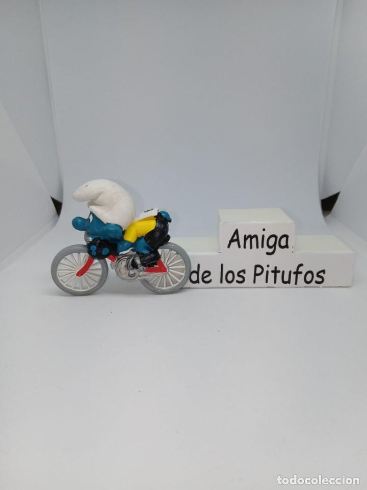 PITUFO- CICLISTA SIN PEANA - REPUESTOS - DESPIECE - ACCESORIOS - PEYO-SCHLEICH (Juguetes - Figuras de Goma y Pvc - Schleich)