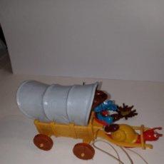 Figuras de Goma y PVC: LA CARABANA DE LOS PITUFOS - PITUFOS -SCHLEICH. Lote 261858155