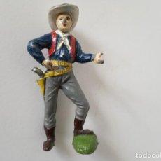 Figuras de Goma y PVC: FIGURA VAQUERO JECSAN GOMA AÑOS 50. Lote 261860860