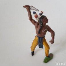 Figuras de Goma y PVC: FIGURA INDIO GOMA AÑOS 50 JECSAN. Lote 261860915